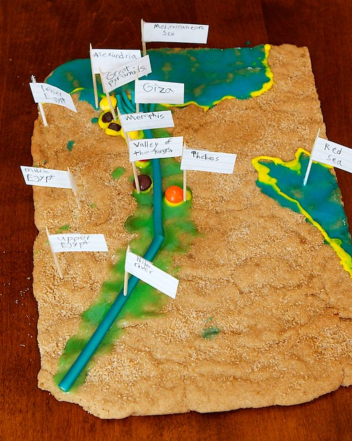 The Great Adventure Cookie Maps Of ANCIENT EGYPT - Map of egypt 3d