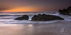 `[Explore Front Page]  Thanks  :) (saki_axat) Tags: longexposure sunset sea seascape beach water rocks explore frontpage bizkaia bakio