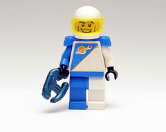 Retro Spaceman (The Purple Brick) Tags: lego space retro future hero cobalt brickarms