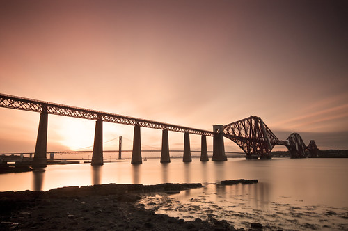 Forth Bridge at Sunset April 12 2011