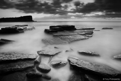 Avalon Beach (-yury-) Tags: ocean longexposure sea blackandwhite bw seascape beach water sunrise landscape sydney australia nsw avalon northernbeaches