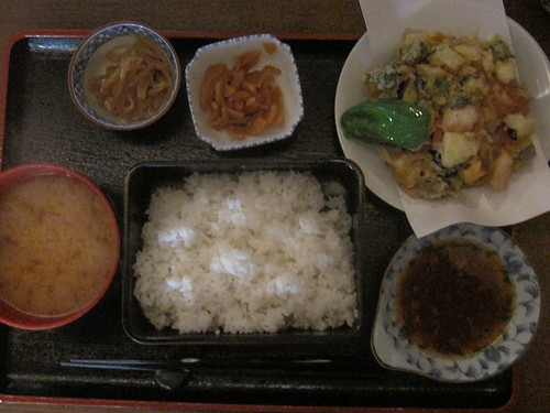 ランチかき揚げ定食950円@ひさご(練馬)