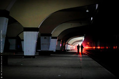 A walk towards light (mostakim timur) Tags: life light shadow red station train canon eos 50mm prime kiss ray walk platform railway walker dhaka f18 bangladesh towards ef x3 500d kamalapur t1i