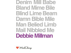 Mailchimp Slide made for Debbie Millman (creativemornings) Tags: cult mailchimp creativemorning creativemornings sponsorslides