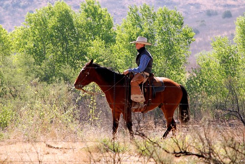 texas cowboy with 10 gallon hat  lacy ranch  fort davis  texas  in the davis