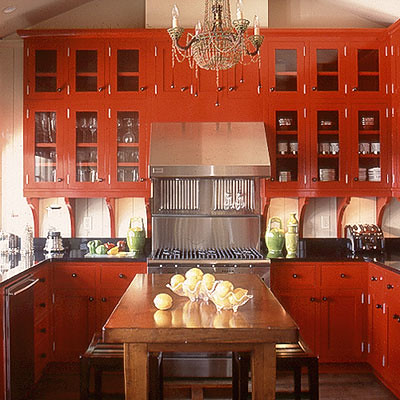 red kitchen canadian house and home