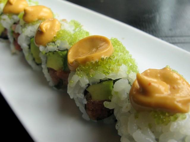 Chipotle yellow fin tuna roll by Caroline on Crack