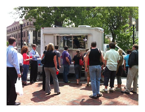 Food Truck Party in Court Square, Memphis, Tenn.