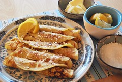 swedish pancakes (sevenworlds16) Tags: pancakes breakfast lemon swedish sugar butter thin crepes rollemups