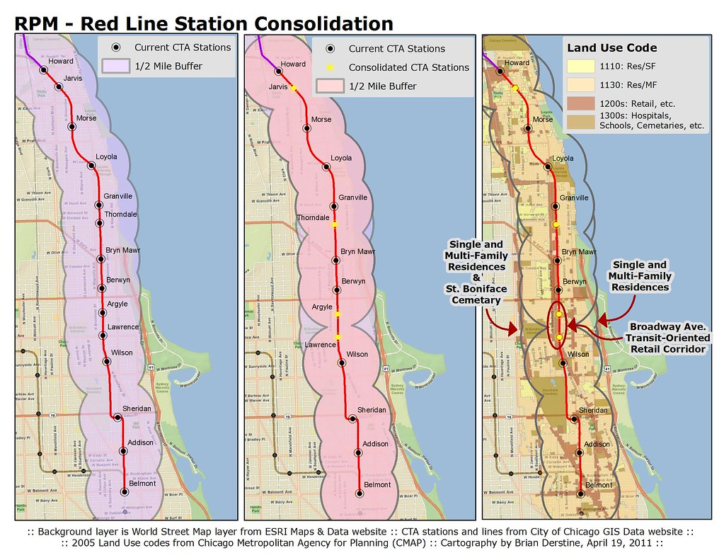 Chicago CTA RPM Station Consolidation Analysis Part II Red Line
