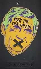 """Kosy The Crackhead"" (tombomb20) Tags: street urban streetart art graffiti sticker yorkshire leeds graff gordonbrown crackhead kosy kosythecrackhead kosystreetart"