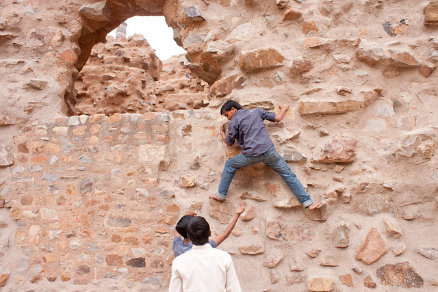 Climbing at the Qutb Complex
