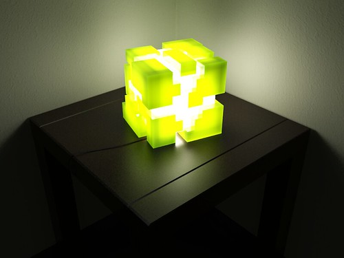 Cube lamp prototype