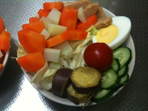 朝食サラダ(2011/4/21)