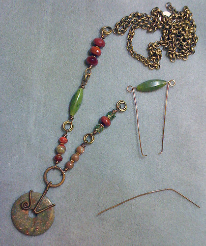 necklace in progress