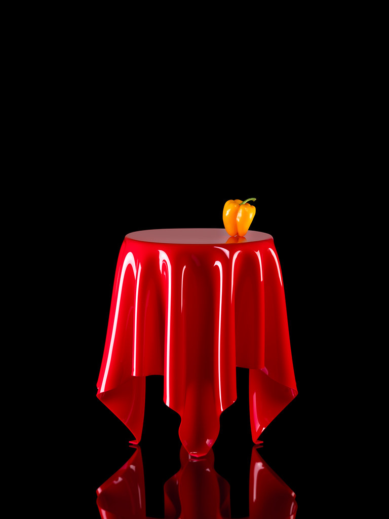 Illusion Red (Essey ApS) Tags: Red Table Design Furniture Side Illusion  Symbolic Functionalism