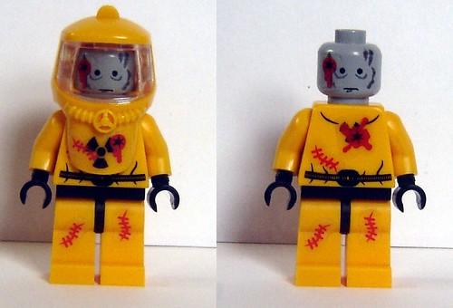 Custom minifig Hazmat Zombie