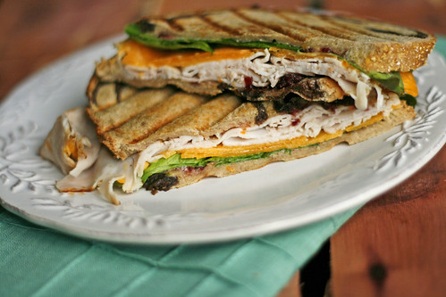 The New Englander Panini with Easy Cranberry Orange Mayo