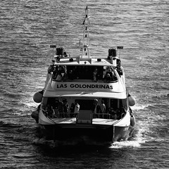 CFR2075 golondrina (Carlos F1) Tags: barcelona city sea bw white black byn blanco water port marina puerto boat mar spain agua nikon mediterraneo barca barco ship harbour offshore ships negro transport bn transportation sail sailor olas omnibus transporte golondrinas yatch maritim marinero d300 martimo rompeolas golondrina mediterrani yate sirenas rompe lepb