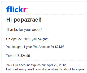 my flickr pro is here