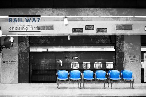 Railwaychasing time - blue seats.
