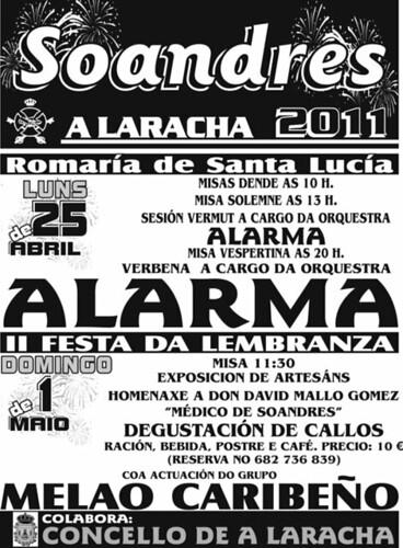 A Laracha 2011 - Romaría de Santa Lucía en Soandres - cartel