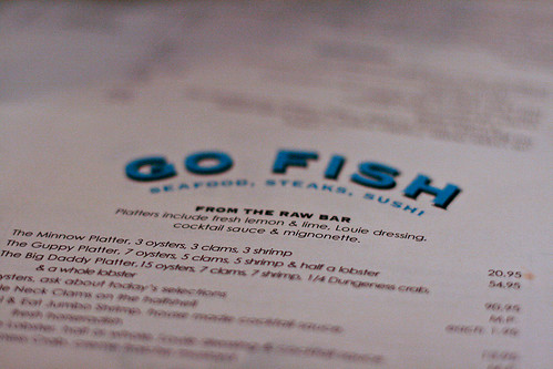Go Fish menu