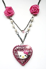 Hello Kitty Rose Heart (The Sugar Dust Shop) Tags: candy sweet sassy hellokitty polymerclay fantasy icecream resin bleue whimiscal delawareartist semorableue thesugardust