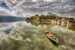 Glyaz,Bursa (Nejdet Duzen) Tags: trip travel cloud lake reflection turkey boat village trkiye sandal apollonia bursa ky bulut apollon gl yansma turkei seyahat uluabatlake glyaz colorphotoaward uluabatgl saariysqualitypictures