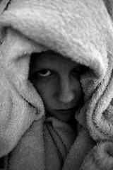 (eeviko) Tags: bw woman white selfportrait black girl face youth suomi finland grey blackwhite vegan d young towel fabric vegetarian omakuva finnish finn 19 bi tytt nainen pyyhe suomalainen mustavalkoinen nuoruus vegaani nuori kasvissyj 2542011 ilovetakingashower