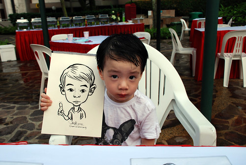 caricature live sketching for birthday party 16042011 - 4