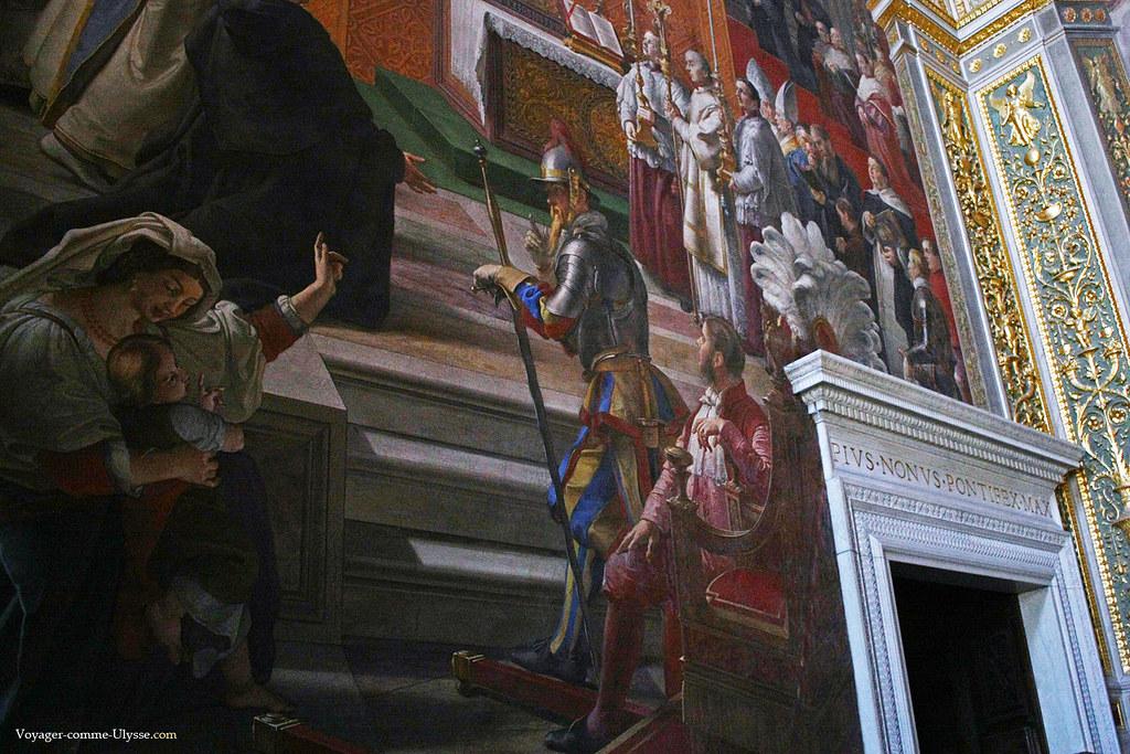 Garde suisse, détail de la fresque de Francesco Podesti