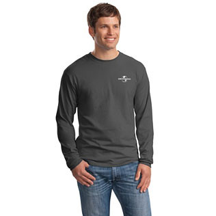 Promotional Items-Hanes® Beefy-T® Long Sleeve T-Shirt (Colored) 52009C