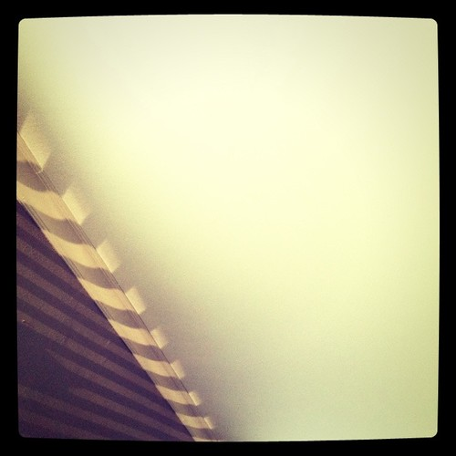 . morning light on the wall and ceiling .