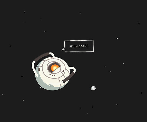 I'm in space.