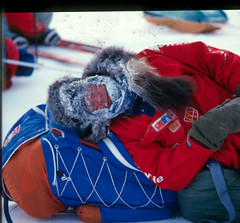 Anatoli Resting (Weber Arctic Expeditions) Tags: ice richard misha weber northpole frostbite arcticocean polarexpedition malakhov wardhuntisland fischerskis polarbridge polartraining capearkticheskiy dimitrishparo shparo