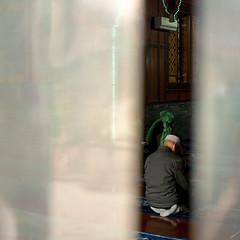 Song Bolu Mosque (kevinschoenmakers) Tags: china square religious asia muslim islam prayer religion praying chinese mosque xian muslims kneeling muslimquarter hui islamic shaanxi eastasia huifang prayerhall huizu songbolu