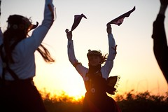Welcome to summer! (wsogmm) Tags: england english sunrise dance dancing yorkshire traditional leeds may morris mayday morrisdancing westyorkshire otleychevin briggate otley may1st traditionaldance briggatemorris