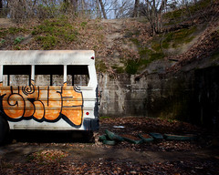 (Tom LeGro) Tags: county canon eos graffiti fort mark howard maryland baltimore ii 5d mm schoolbus 50 edgemere