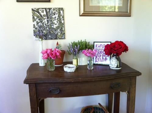 nature table freshen up:  may
