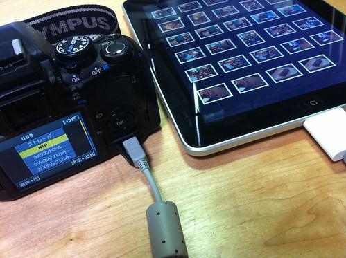 OLYMPUS E420 + Apple iPad Camera Connection Kit