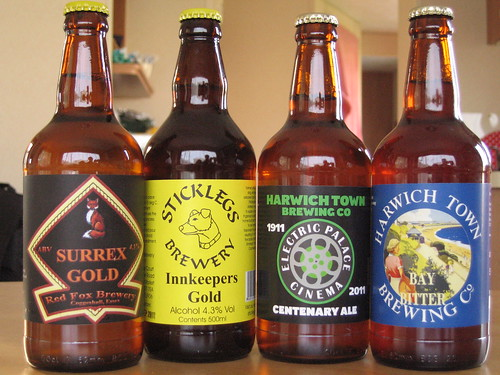 Local bottled beers, from the excellent Grape & Grain in Frinton