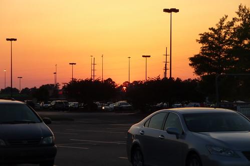 Sunset, Home Depot parking lot