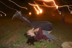 MMM (MayaBernstein) Tags: park black girl night lights boots shy