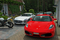 Great car park! (yannickminet) Tags: ferrari f430 v8 4300cc mercedes sls amg nissan gtr 2012 bmw 730 7 7series full option s1000rr quick shifter akropovic exhaust supercar dreamcar sportcar sport super car auto automobile automotive vehicle luxury saloon coup great drive belgium belgi belgie belgique yannickminet yannick minet yannickm young photographer little photoshoot canon eos 500d 1855mm 1855 mm polarisation filter combo supercars night vision ceramic brakes monza motors worldcars