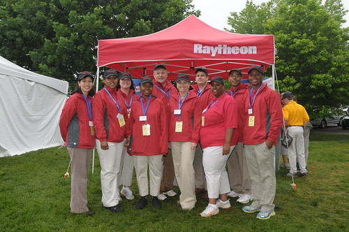 Raytheon volunteers at TARC!