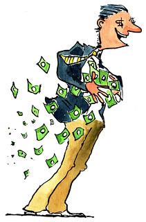 Moneyman greed-in-wind illustration, From ImagesAttr