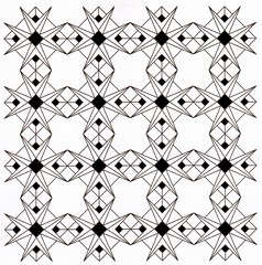 Demi Stars BlackandWhite (Marguerite1997) Tags: blackandwhite stars squares geometry patterns demi zentangle stmetrical