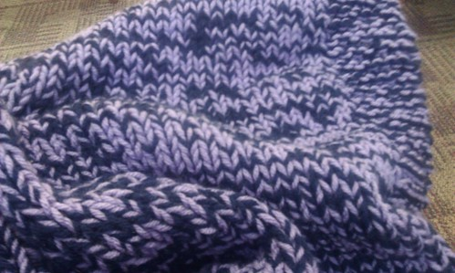 Knit side of Nesha's blanket by mad4marvin