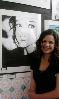 "Holly's ""Young Girl"" at Art Show"